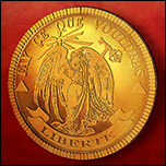 Gold Coin designed as prop for children's adventure film.