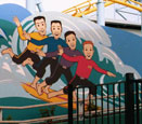 the Wiggles mural at white water world, Gold Coast, Australia